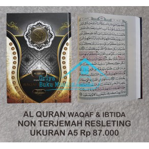 AL QURAN DILENGKAPI PANDUAN WAQAF & IBTIDA' UKURAN A5 (14 X 20 CM)