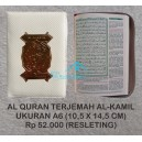 AL QURAN TERJEMAH AL-KAMIL  A6 (10,5 X 14,5 CM) RESLETING