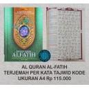 AL QURAN AL-FATIH TERJEMAH PER KATA TAJWID KODE UKURAN A4