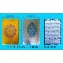 AL QURAN COVER EMAS/PERAK NISFU (13,5 X 19 CM)