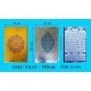 AL QURAN COVER EMAS/PERAK SAKU (8 X 12CM)