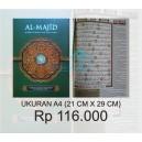 AL QUR'AN AL MAJID UKURAN A4  (Al Quran Terjemah & Tajwid Warna)