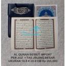AL QURAN BEIRUT IMPORT PER JUZ UKURAN 16,8 X 23,8 CM PLUS TAS JINJING BESAR