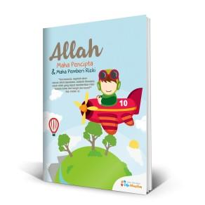 """BUKU TULIS ISLAMI COVER """"ALLAH MAHA PENCIPTA DAN PEMBERI RIZKI"""""""