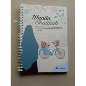 """BUKU TULIS ISLAMI SPIRAL COVER """"WANITA SHALIHAH"""""""
