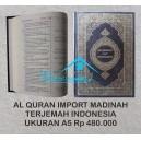 AL QURAN MUSHAF ASLI MADINAH HC PLUS TERJEMAH UKURAN A5 (14,5 x 21,5 CM)