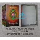 AL QURAN MUSHAF TULIS 30 JUZ 3 JILID UKURAN B5
