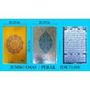 AL QURAN COVER EMAS/PERAK JUMBO (20,5 X 28,5 CM)
