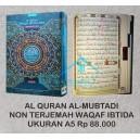 Al QURAN AL-MUBTADI NON TERJEMAH WAQAF IBTIDA JEDA UKURAN A5