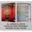 AL QURAN AL-HAFIZ HAFALAN NON TERJEMAH UKURAN A4
