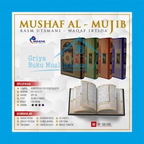 AL QURAN MUSHAF AL-MUJIB TERJEMAH WAQAF IBTIDA TAJWID WARNA UKURAN A5 (14.5 CM x 21 CM)