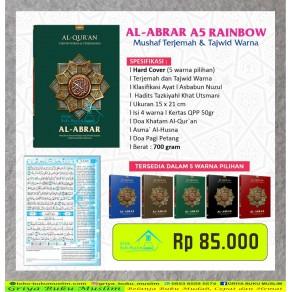 AL QURAN AL-ABRAR TAJWID DAN TERJEMAH UKURAN A5 (15 x 21 CM)