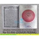 AL QURAN TAJWID RASM USMANI MA'SUM 15 BARIS UKURAN TANGGUNG A5 (14,5 X 21 CM) COVER PERAK