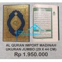 AL QUR'AN MUSHAF ASLI MADINAH HARD COVER UKURAN JUMBO (29 CM X 44 CM)
