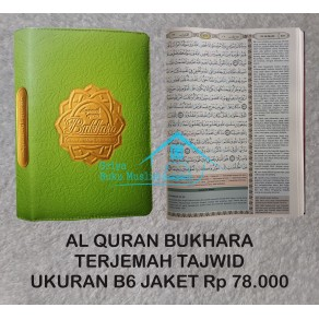 AL QUR'AN BUKHARA TERJEMAH TAJWID UKURAN B6 JAKET RESLETING