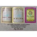 BUKU JUZ 'AMMA TERJEMAH TRANSLITERASI INDONESIA TAJWID WARNA  UKURAN B5 (17 X 24 CM)