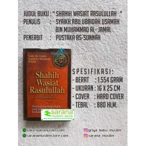 BUKU SHAHIH WASIAT RASULULLAH