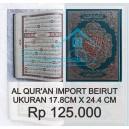 AL QURAN BEIRUT IMPORT 17.8CM X 24.4 CM