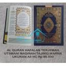 AL QURAN MUSHAF HAFALAN UTSMANI MADINAH TERJEMAH TAJWID  WARNA UKURAN A5