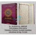 AL QURAN AL-AMZAR TERJEMAH PER KATA TRANSLITERASI TAJWID WARNA UKURAN A5