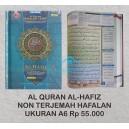 AL QURAN HAFALAN AL HAFIZ UKURAN A6 (10,5 CM X 15 CM)
