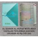 AL QURAN AL HUFAZ HAFALAN TERJEMAH MUSLIMAH SERIES AGENDA UKURAN A5 (15 CM X 21 CM)